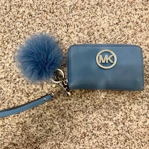 Michael Kors Blue and Silver Wristlet/Wallet